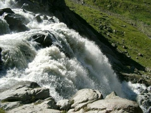 Waterfall in the mountans